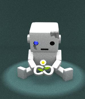 ロボットとお花
